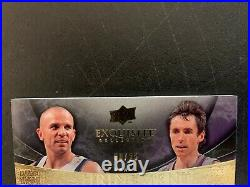 08-09 UD Exquisite Collection Dual Auto of Jason Kidd and Steve Nash 8/25