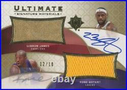 /10 Auto Ultimate Collection Kobe Bryant LeBron James GU Jersey Patch Autographs
