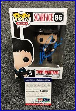 1210C42 Al Pacino Signed SCARFACE Tony Montana FUNKO POP Doll PSA/DNA COA