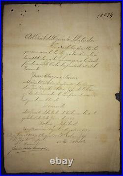 1897 Major General MAXIMO GOMEZ BAEZ Signed Spain Antilles Independence War