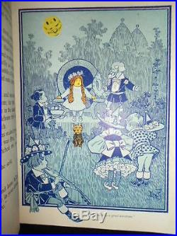 1899 Wonderful Wizard Of Oz Signed L Frank Baum 1st Edition 24 Color ILL Fantasy