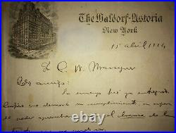 1924 Signed Letter by Afro-Cuban Historian FERNANDO ORTIZ to CONRADO MASSAGUER