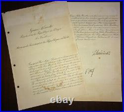 1936 Poland Signed Letter by Longest Serving Polish President IGNACY MOSCICKI