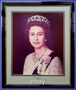1977 QUEEN ELIZABETH II & PRINCE PHILIP autographed signed large format photos