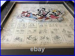 1994 Warner Brothers Animaniacs Mark Taliani Autographed framed storyboard COA