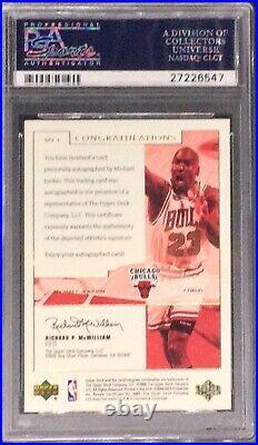2000 UD NBA Legends Master Collection Auto Michael Jordan 7/50