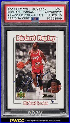 2001 Ultimate Collection Buyback Michael Jordan PSA/DNA 10 AUTO 1/1 PSA AUTH