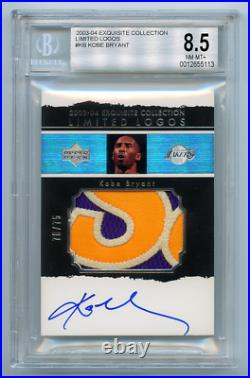 2003-04 Exquisite Collection Limited Logos Patch Auto Kobe Bryant Bgs 8.5 Sick