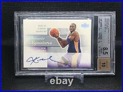 2003-04 UD ULTIMATE COLLECTION KOBE BRYANT Ultimate Signatures BGS 8.5 Auto 10