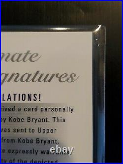 2003-04 Ultimate Collection Kobe Bryant Auto Signatures UD #KB-A Upper Deck HOF