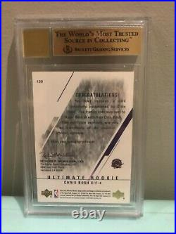 2003-04 Upper Deck Ultimate Collection Chris Bosh /250 BGS 9.5 10 Auto