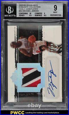 2003 Exquisite Collection Noble Michael Jordan PATCH AUTO /25 #MJ BGS 9 MINT
