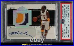 2003 Exquisite Collection Noble Nameplate Kobe Bryant PATCH 10 AUTO /25 PSA Auth
