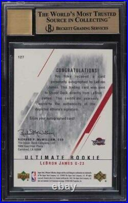 2003 Ultimate Collection LeBron James ROOKIE RC AUTO /250 BGS 10 PRISTINE