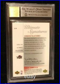 2003 Ultimate Collection Signatures LEBRON JAMES Rookie Auto Rc Bgs 9 High Subs