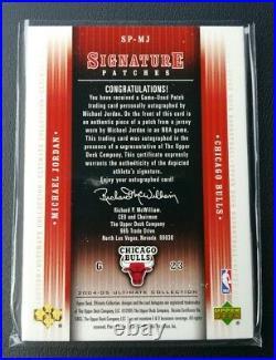2004-05 Michael Jordan Ultimate Collection Auto Patch Sp Insert #6/25! Autograph