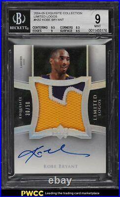 2004 Exquisite Collection Limited Logos Kobe Bryant PATCH AUTO /50 #KB2 BGS 9