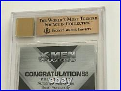 2006 Marvel X-MEN The Last Stand STAN LEE Signed AUTOGRAPH Card BGS 9.5 AUTO 10
