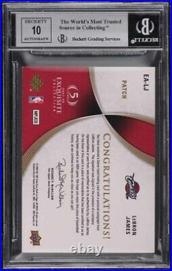 2007 Exquisite Collection LeBron James 3-CLR PATCH AUTO 24/35 BGS 8.5 NM-MT+