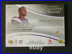 2007 Upper Deck Exquisite Collection Adrian Peterson Rookie Patch Auto /99 #133