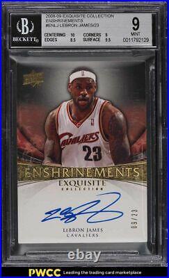 2008 Exquisite Collection Enshrinements LeBron James AUTO /23 BGS 9 MINT