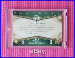 2008 Exquisite collection autographed Kevin Garnett auto card Flawless Autograph