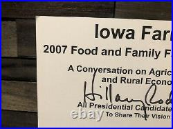 2008 President Barack Obama Joe Biden Hillary Clinton Election Signed Poster WOW