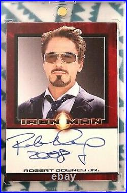 2008 Rittenhouse Marvel Iron Man Robert Downey Jr. As Tony Stark AUTO Autograph