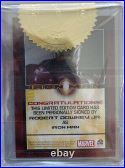 2008 Rittenhouse Marvel Robert Downey Jr. As Iron Man AUTO Autograph Avengers