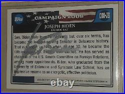 2008 Topps Joe Biden Signed Card 2020 President #46