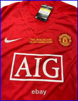2008 UEFA Champions League Final Shirt Signed By Wayne Rooney 100% With COA