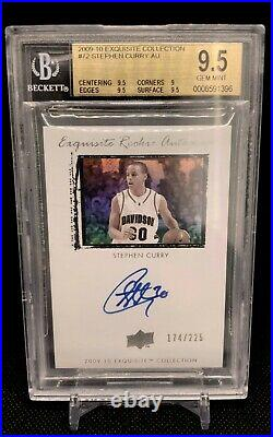 2009 Stephen Curry Exquisite Collection Rookie RC /225 BGS 9.5 Auto 10