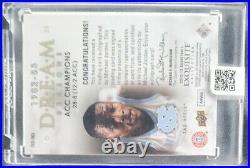 2012-13 Exquisite Collection Dream Seasons 82-83 Michael Jordan /70 AUTO On Card