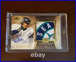2013 Leaf Immortals Collection ICHIRO Seattle Mariners Sick Patch Auto 1/1 Rare