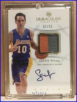 2013 Panini Immaculate Collection STEVE NASH Auto Relic /50 Suns Lakers HOF NBA