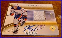 2015-16 Connor McDavid Ultimate Collection Jersey Patch Auto /99 Rookie Card RC