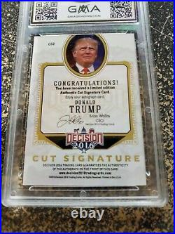 2016 DECISION Donald J Trump Cut Signature auto autograph GMA 8.5 President