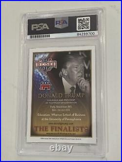 2016 President Donald Trump Signed The Finalists Card, Psa/dna, Very Rare