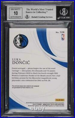2018 Immaculate Collection Luka Doncic ROOKIE RC PATCH AUTO /77 #124 BGS 9 MINT