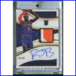 2019/20 Immaculate Collection ROOKIE PATCH AUTO RJ BARRETT KNICKS /99 3 COLOR