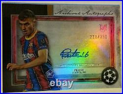 2020-21 Topps Museum Collection UEFA CL PEDRI RC Barcelona Rookie Auto # /250