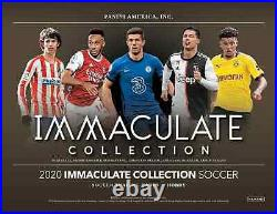 2020 Panini Immaculate Collection Soccer Hobby Box New Free Priority Ship