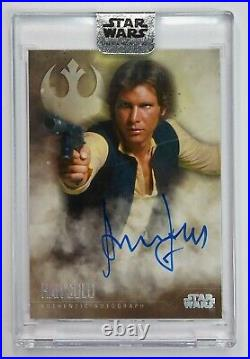 2020 Star Wars Stellar Signatures Autograph HARRISON FORD as HAN SOLO Auto 35/40