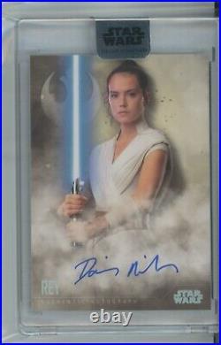 2020 Topps Star Wars STELLAR Daisy Ridley BASE AUTO #18/40 Rey signed
