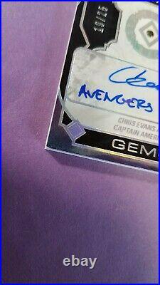 2021 Marvel Black Diamond Chris Evans Auto /25 Gemography Inscribed Cpt America