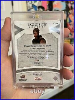 2021 Marvel Black Diamond Thor CHRIS HEMSWORTH EXQUISITE INSCRIPTION Auto 47/65