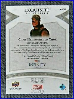 2021 Marvel Black Diamond Thor CHRIS HEMSWORTH EXQUISITE INSCRIPTION Auto 56/65