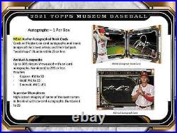 2021 Topps Museum Collection Baseball Hobby Box Brand New Sealed Free Shipping