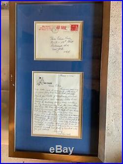 3 Stooges Moe Howard Autograph Signed Letter on 3 Stooge Stationary withCOA/framed