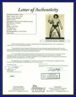ANDRE THE GIANT Signed Autographed 8 x 10 Photo JSA LOA THE ABSOLUTE BEST